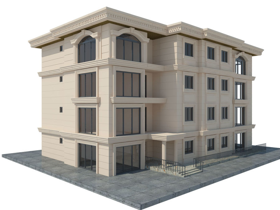 City Buildings royalty-free 3d model - Preview no. 42