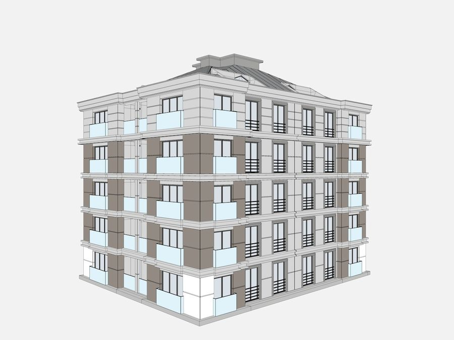 City Buildings royalty-free 3d model - Preview no. 26