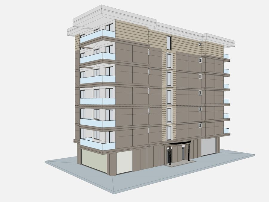 City Buildings royalty-free 3d model - Preview no. 41