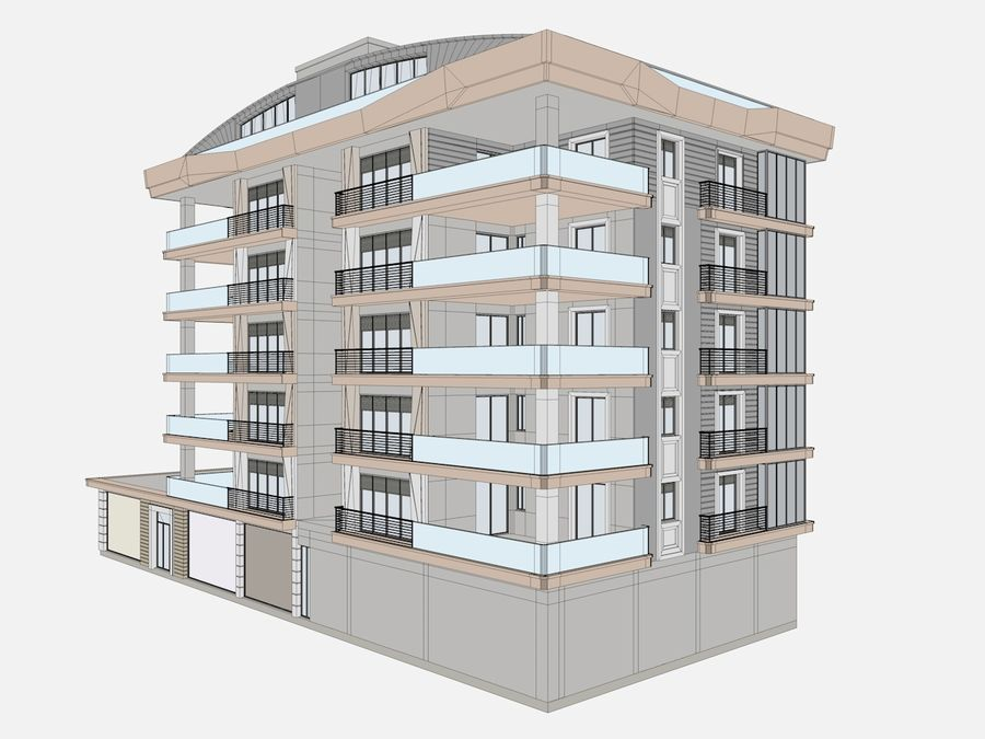 City Buildings royalty-free 3d model - Preview no. 15