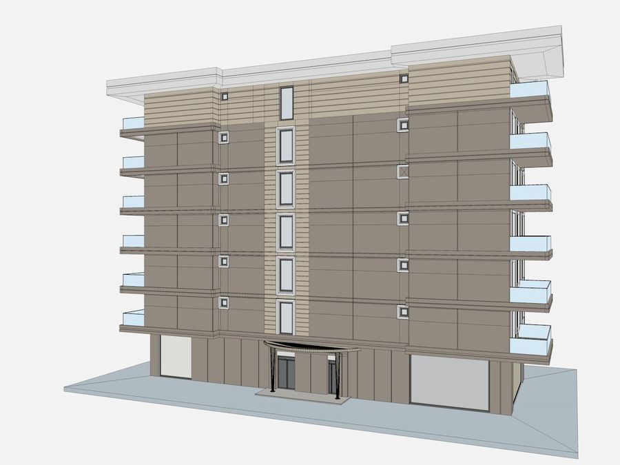 City Buildings royalty-free 3d model - Preview no. 47
