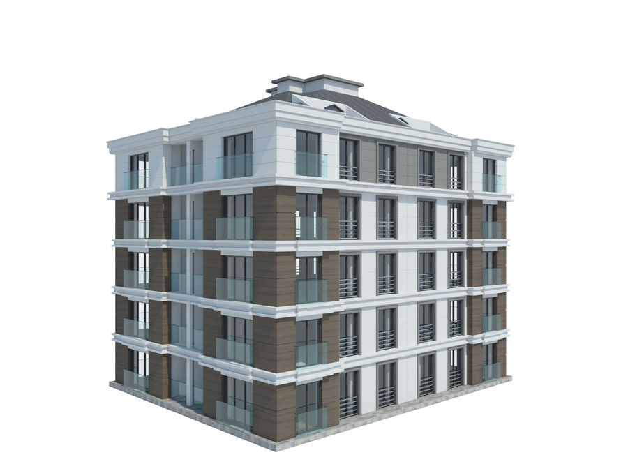 City Buildings royalty-free 3d model - Preview no. 19