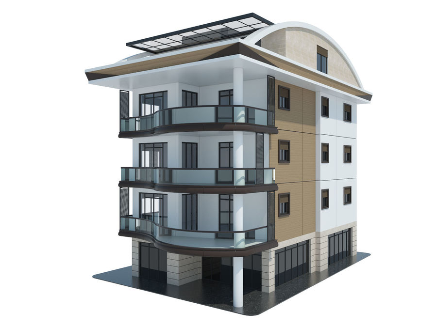 Bâtiments de la ville royalty-free 3d model - Preview no. 5