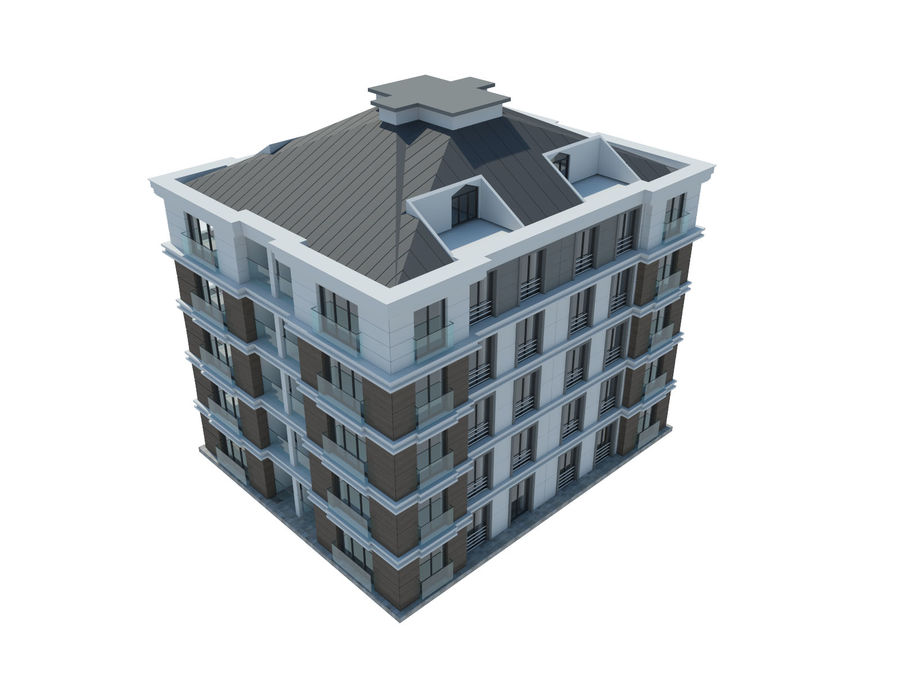 City Buildings royalty-free 3d model - Preview no. 23