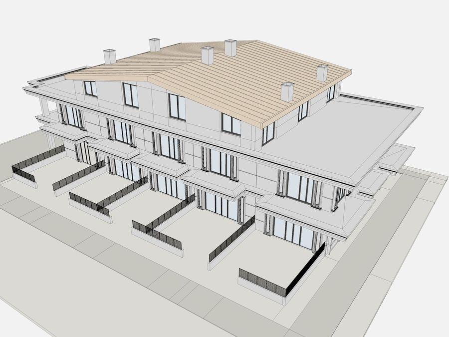 Bâtiments de la ville royalty-free 3d model - Preview no. 37