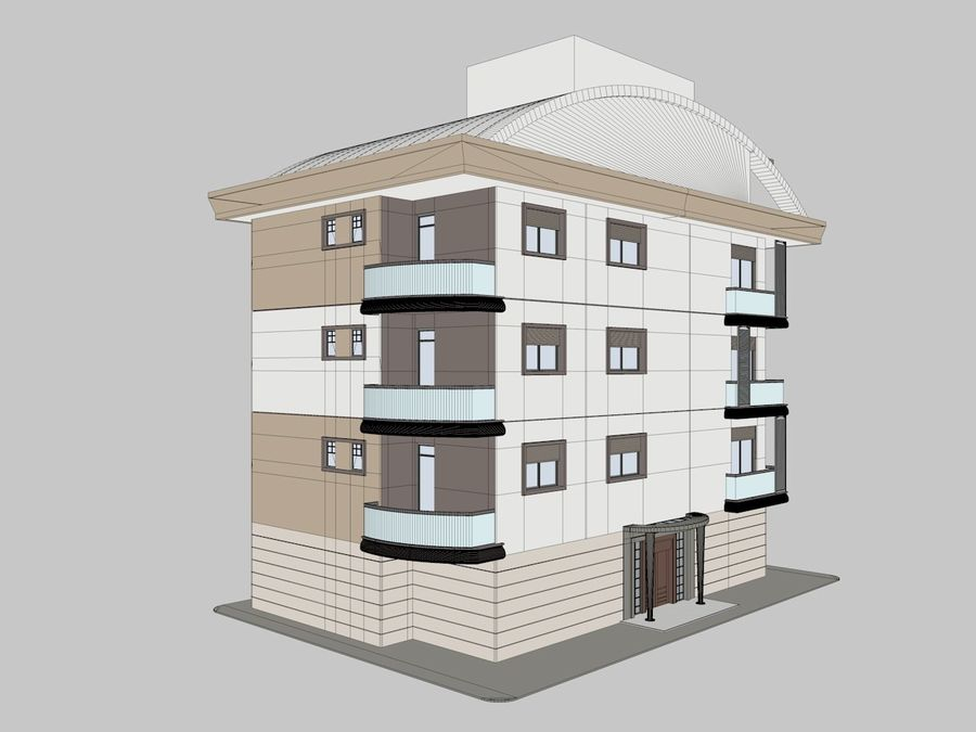 City Buildings royalty-free 3d model - Preview no. 7