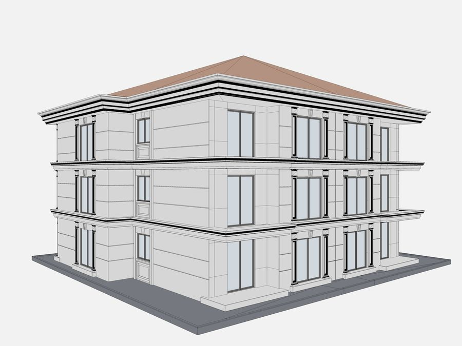 City Buildings royalty-free 3d model - Preview no. 58