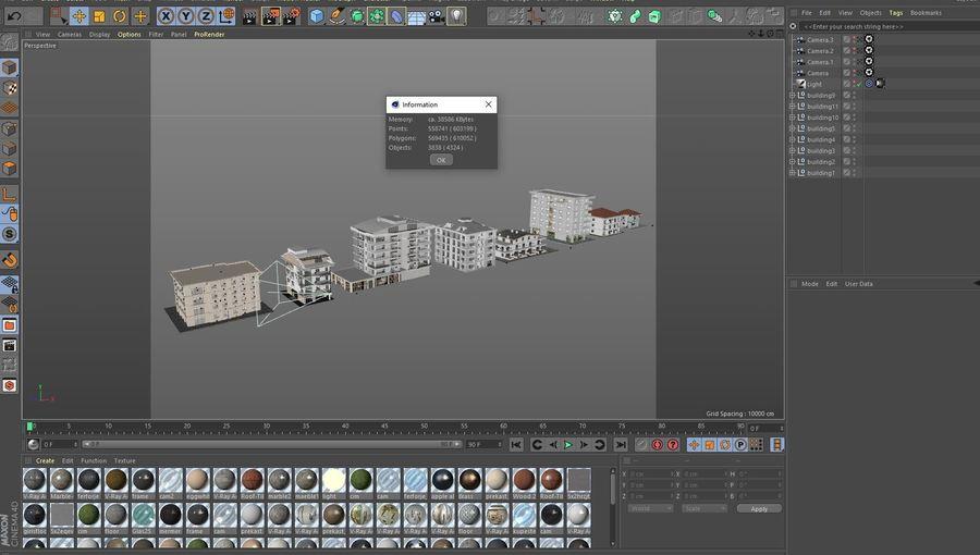 Bâtiments de la ville royalty-free 3d model - Preview no. 52