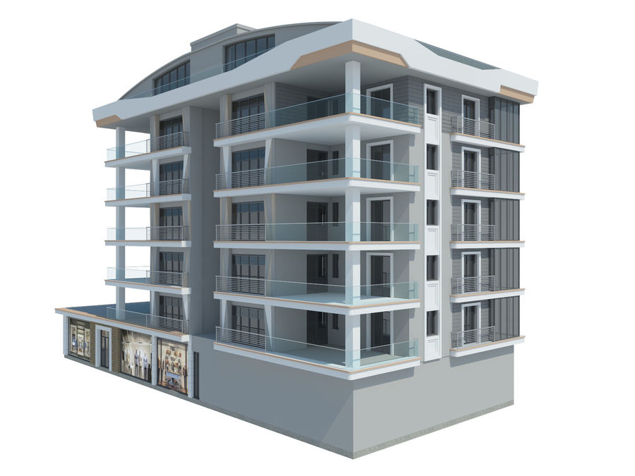 City Buildings royalty-free 3d model - Preview no. 11