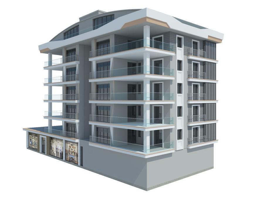Bâtiments de la ville royalty-free 3d model - Preview no. 11