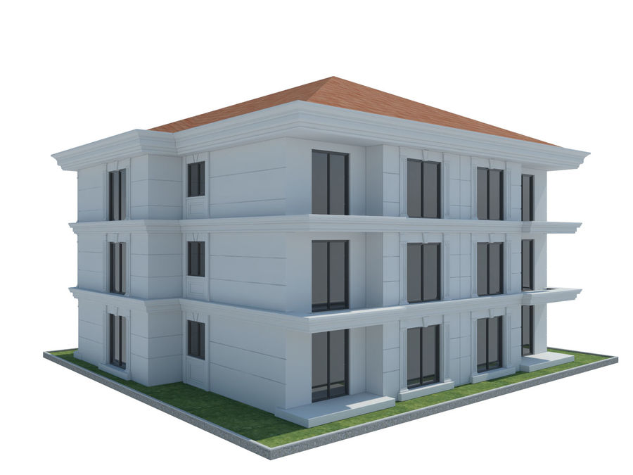 City Buildings royalty-free 3d model - Preview no. 43