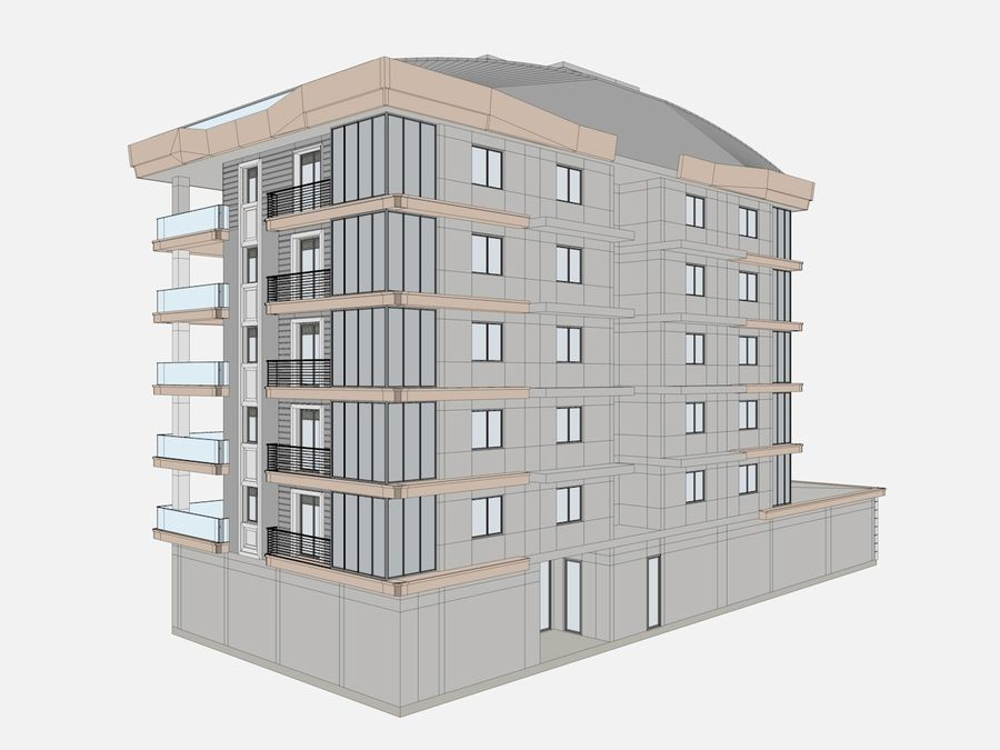 City Buildings royalty-free 3d model - Preview no. 16