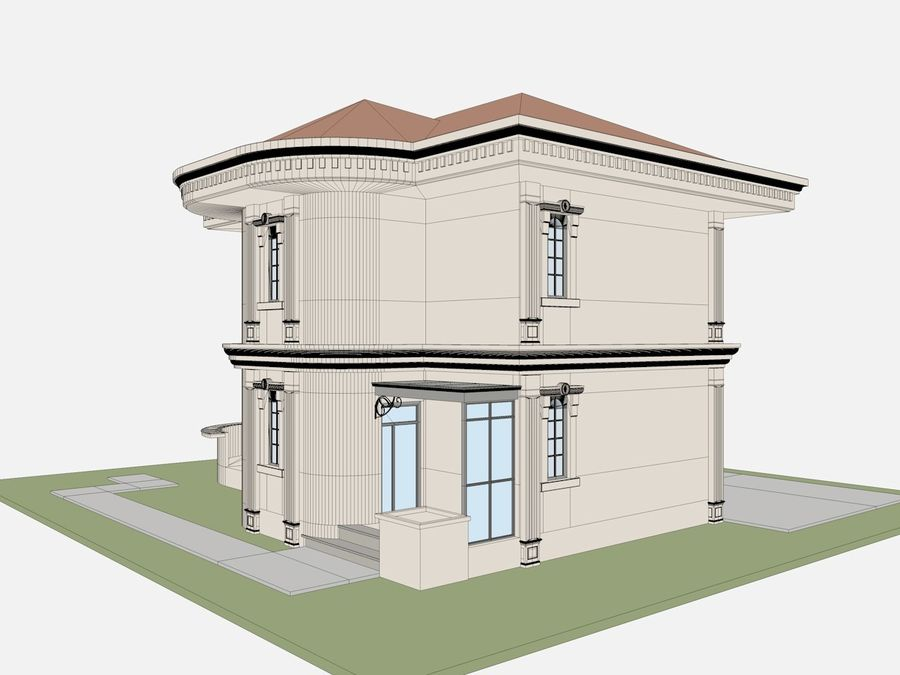 City Buildings royalty-free 3d model - Preview no. 64