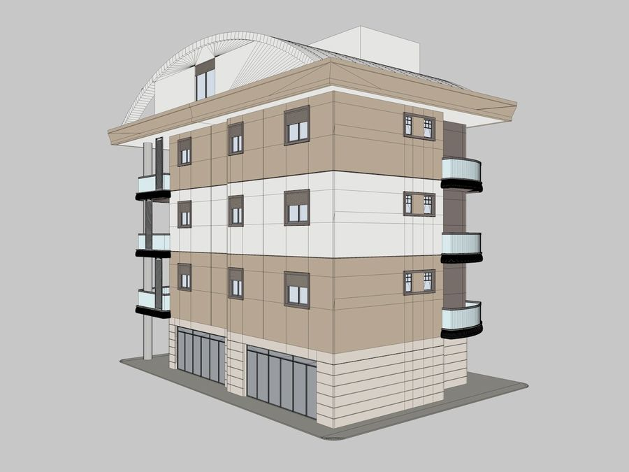 City Buildings royalty-free 3d model - Preview no. 8