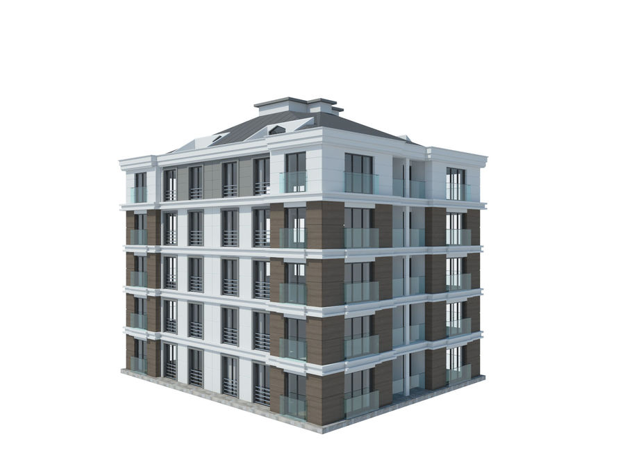 City Buildings royalty-free 3d model - Preview no. 20