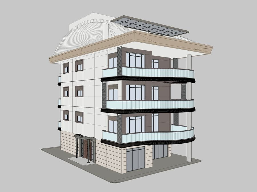 City Buildings royalty-free 3d model - Preview no. 6