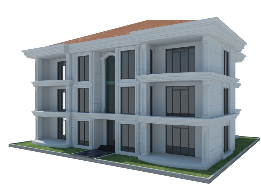 Bâtiments de la ville royalty-free 3d model - Preview no. 54