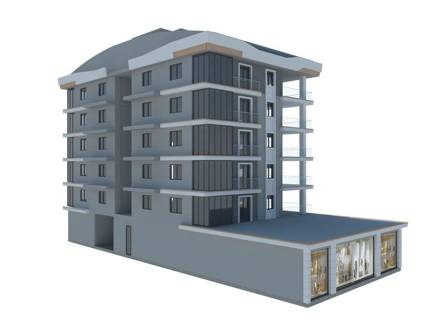 Bâtiments de la ville royalty-free 3d model - Preview no. 13