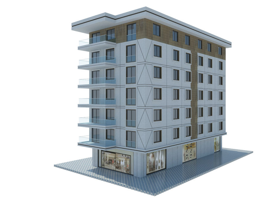 Bâtiments de la ville royalty-free 3d model - Preview no. 38