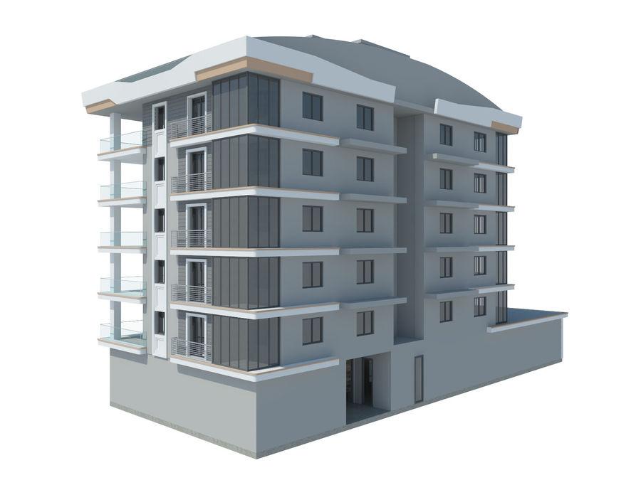 Bâtiments de la ville royalty-free 3d model - Preview no. 12