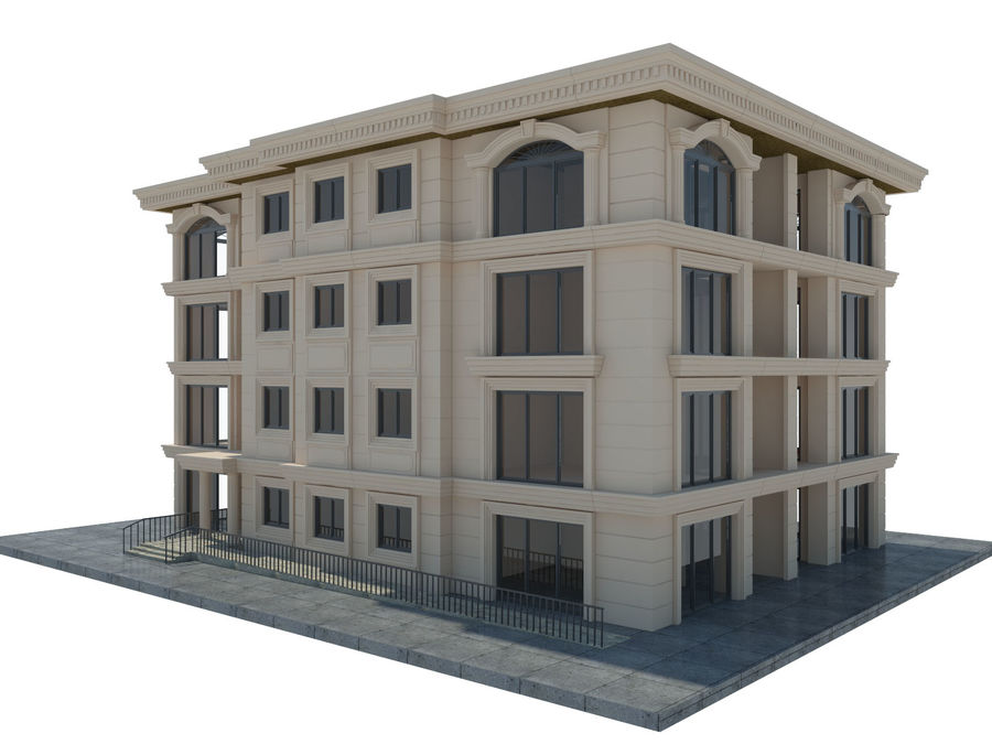 City Buildings royalty-free 3d model - Preview no. 44