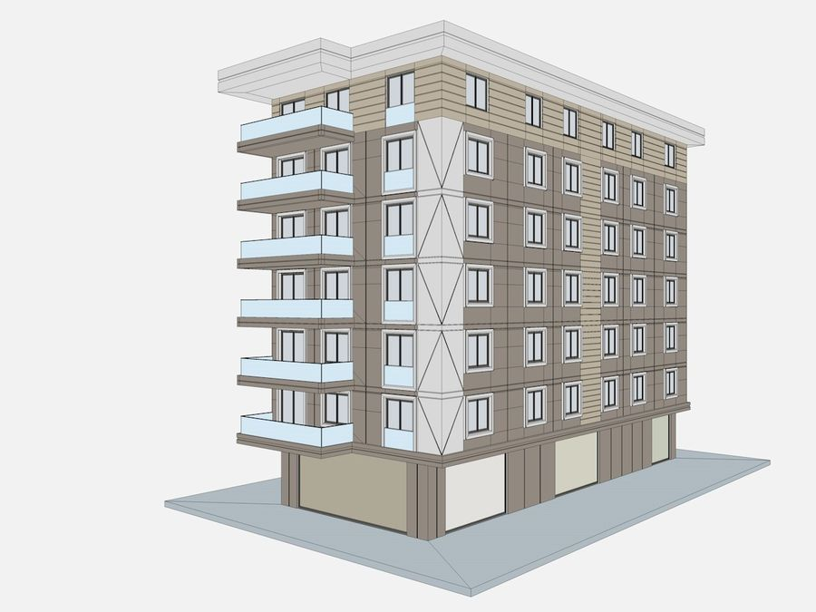 City Buildings royalty-free 3d model - Preview no. 49