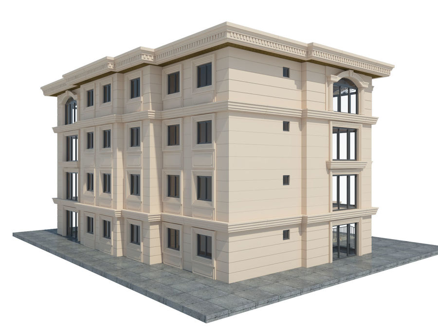 City Buildings royalty-free 3d model - Preview no. 39
