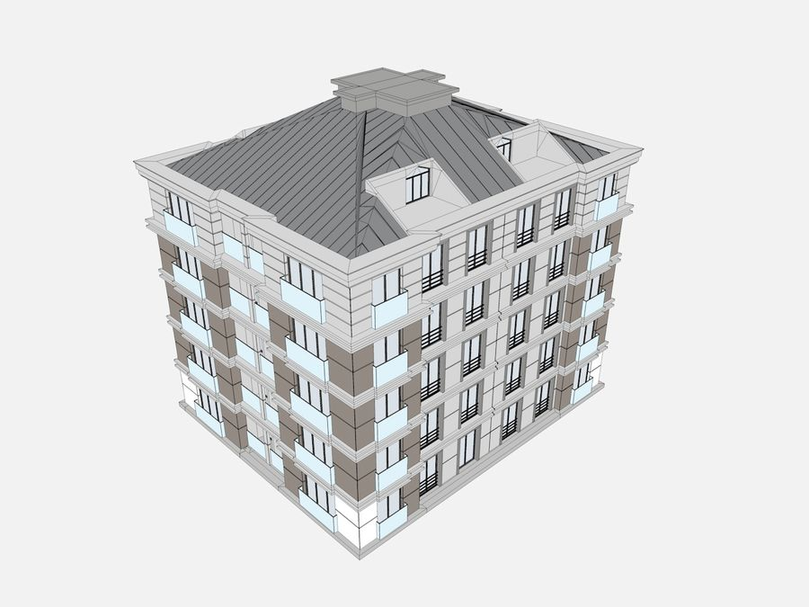 City Buildings royalty-free 3d model - Preview no. 33