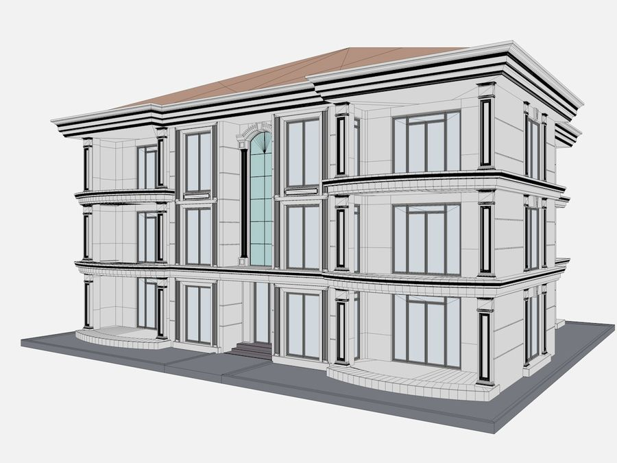 City Buildings royalty-free 3d model - Preview no. 62