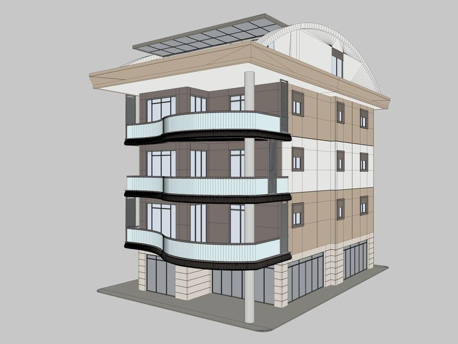 Bâtiments de la ville royalty-free 3d model - Preview no. 9