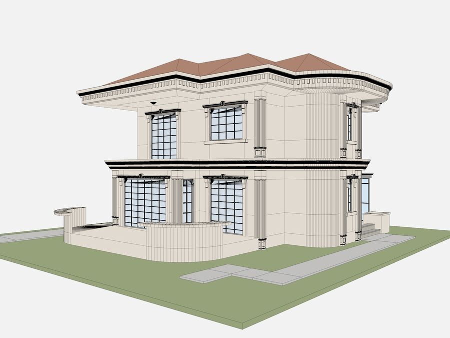 City Buildings royalty-free 3d model - Preview no. 67