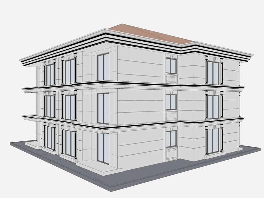 City Buildings royalty-free 3d model - Preview no. 59