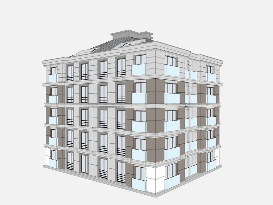 City Buildings royalty-free 3d model - Preview no. 24