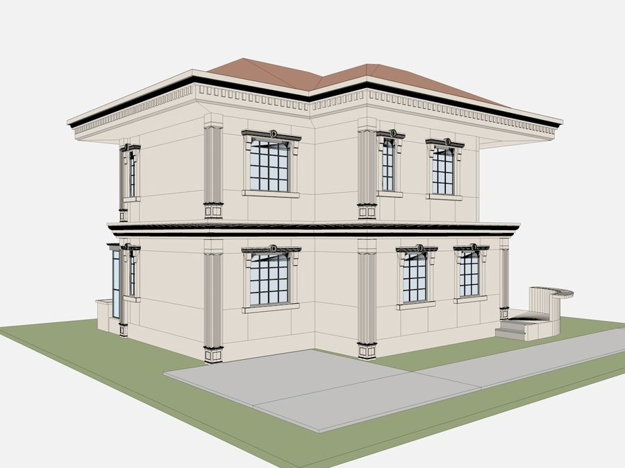 City Buildings royalty-free 3d model - Preview no. 65