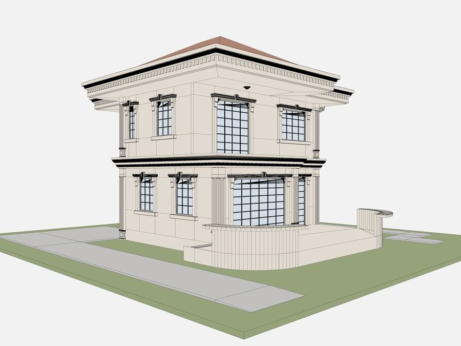 City Buildings royalty-free 3d model - Preview no. 66