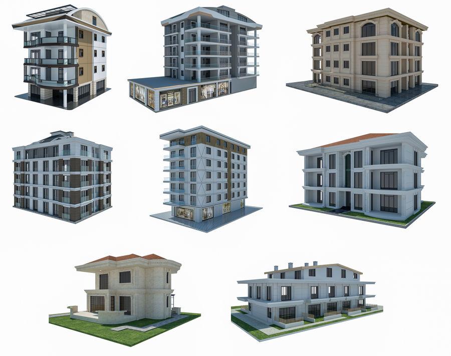 Bâtiments de la ville royalty-free 3d model - Preview no. 1