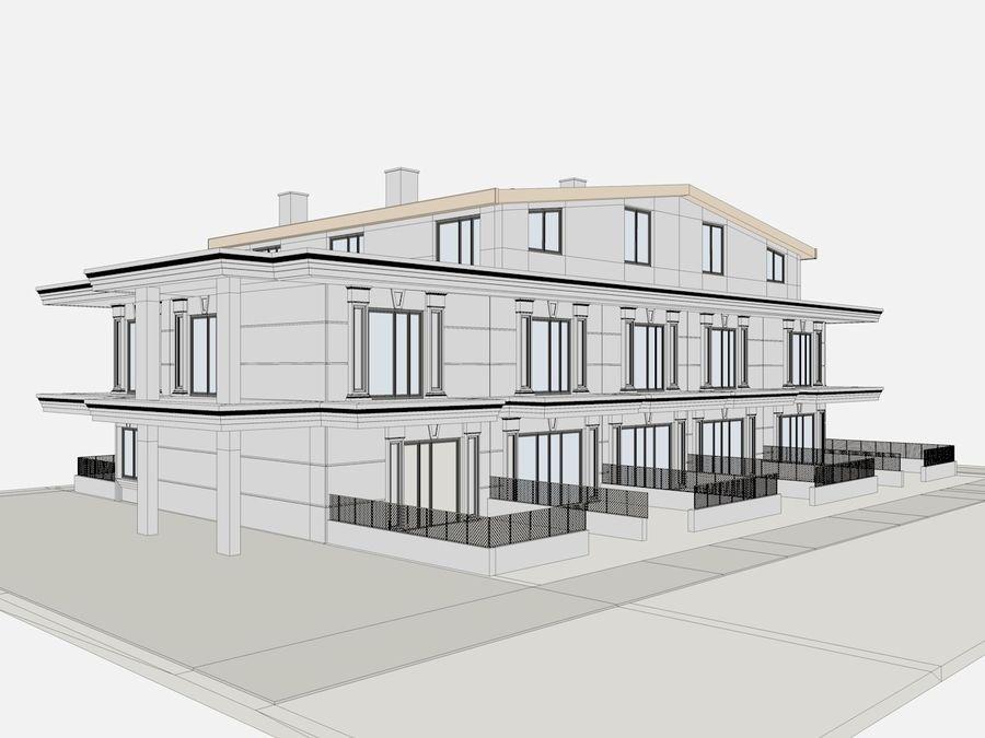 Bâtiments de la ville royalty-free 3d model - Preview no. 35
