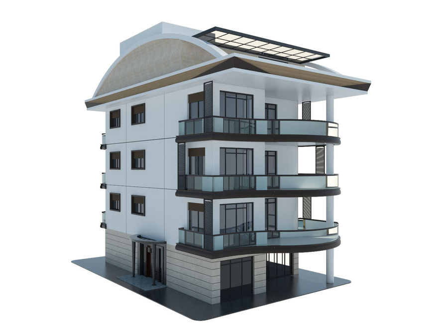 City Buildings royalty-free 3d model - Preview no. 2