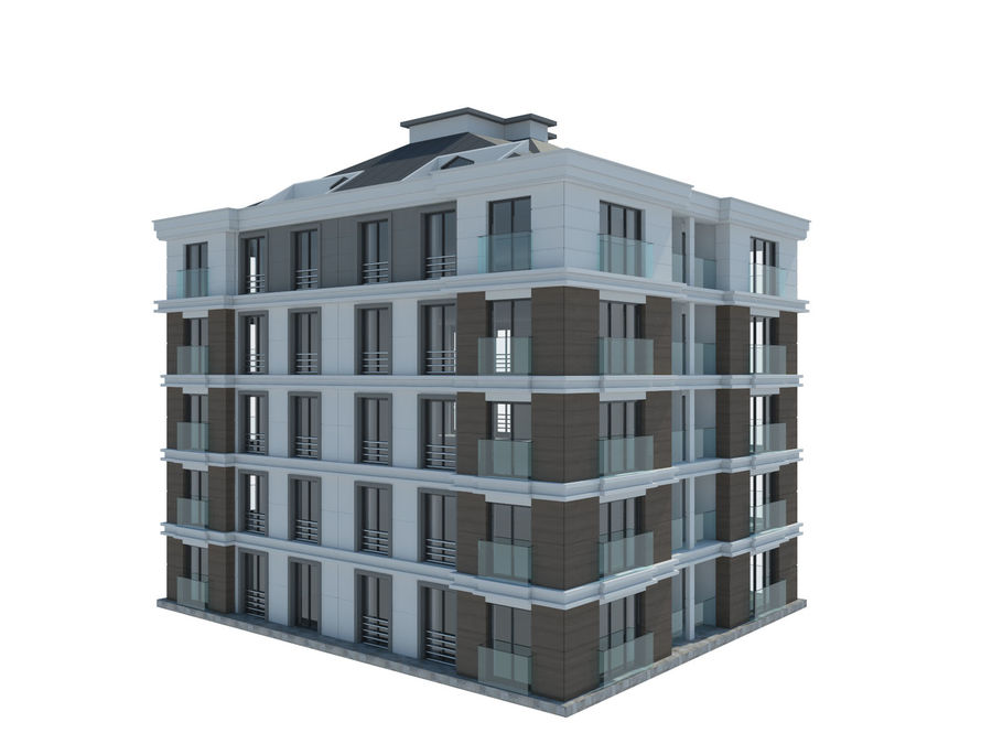 City Buildings royalty-free 3d model - Preview no. 18