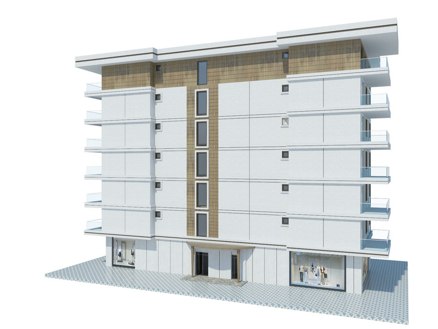 City Buildings royalty-free 3d model - Preview no. 34