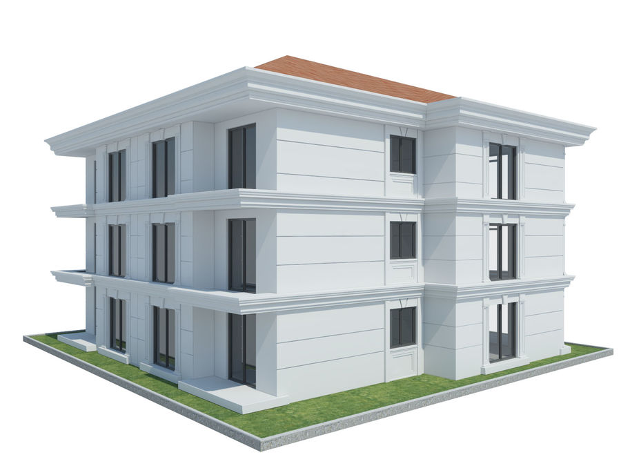 City Buildings royalty-free 3d model - Preview no. 46