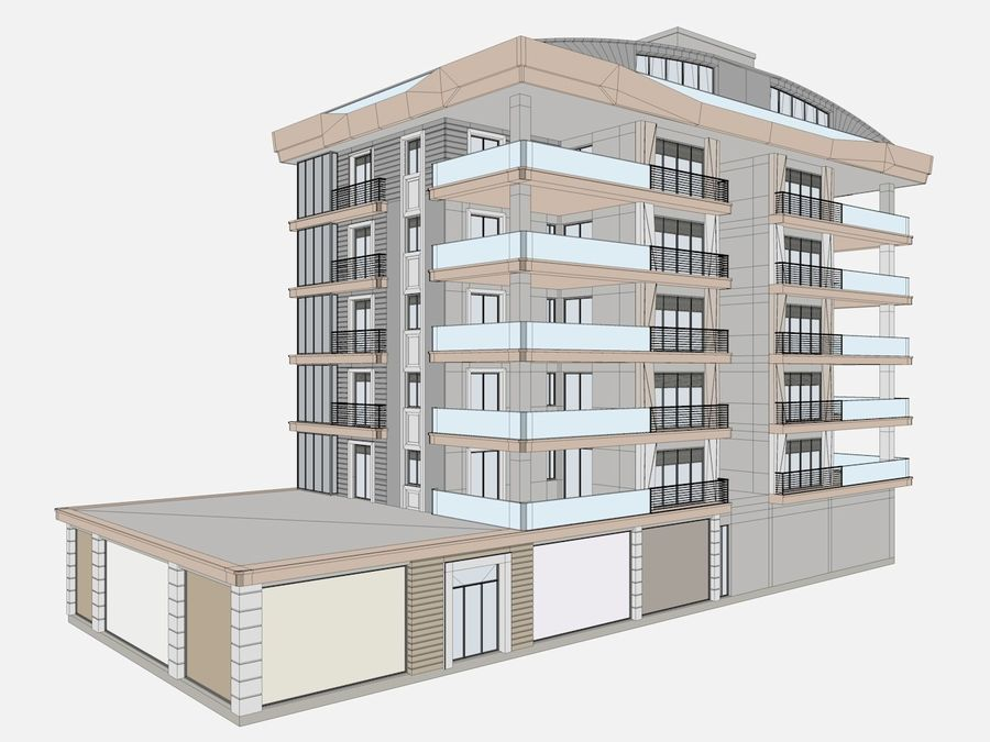 City Buildings royalty-free 3d model - Preview no. 14