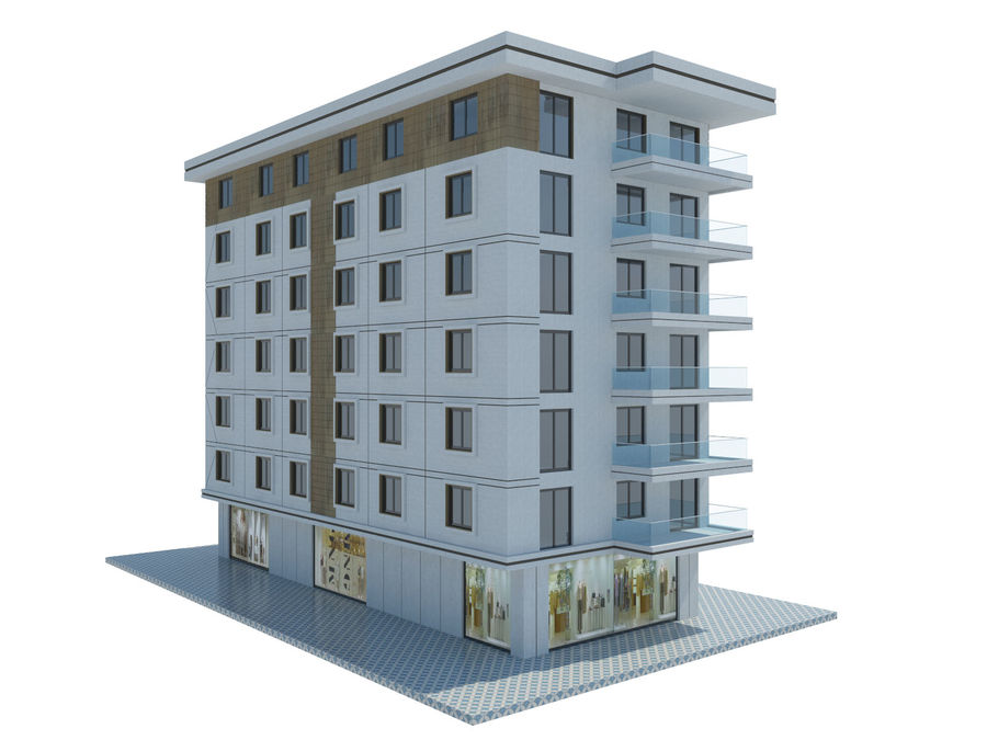 City Buildings royalty-free 3d model - Preview no. 28