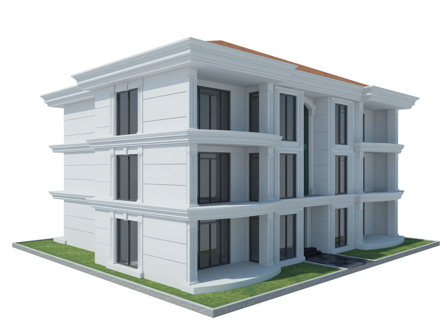 City Buildings royalty-free 3d model - Preview no. 50