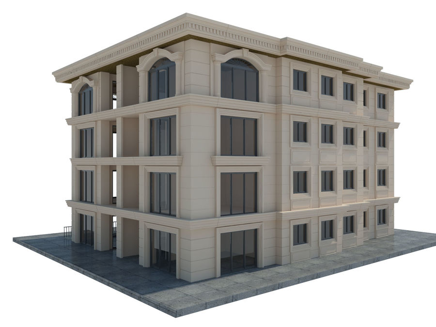 City Buildings royalty-free 3d model - Preview no. 36