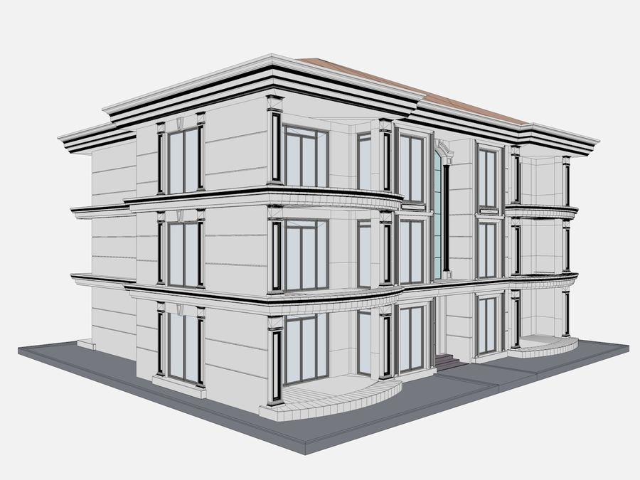 City Buildings royalty-free 3d model - Preview no. 60
