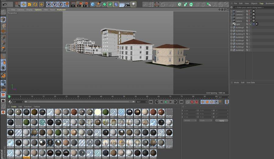 Bâtiments de la ville royalty-free 3d model - Preview no. 55