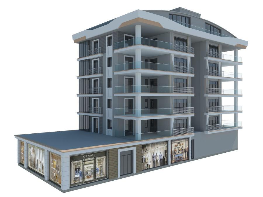 Bâtiments de la ville royalty-free 3d model - Preview no. 10