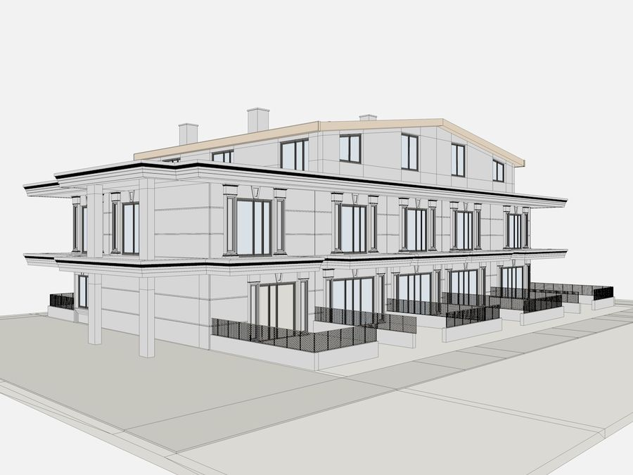 City Buildings royalty-free 3d model - Preview no. 35