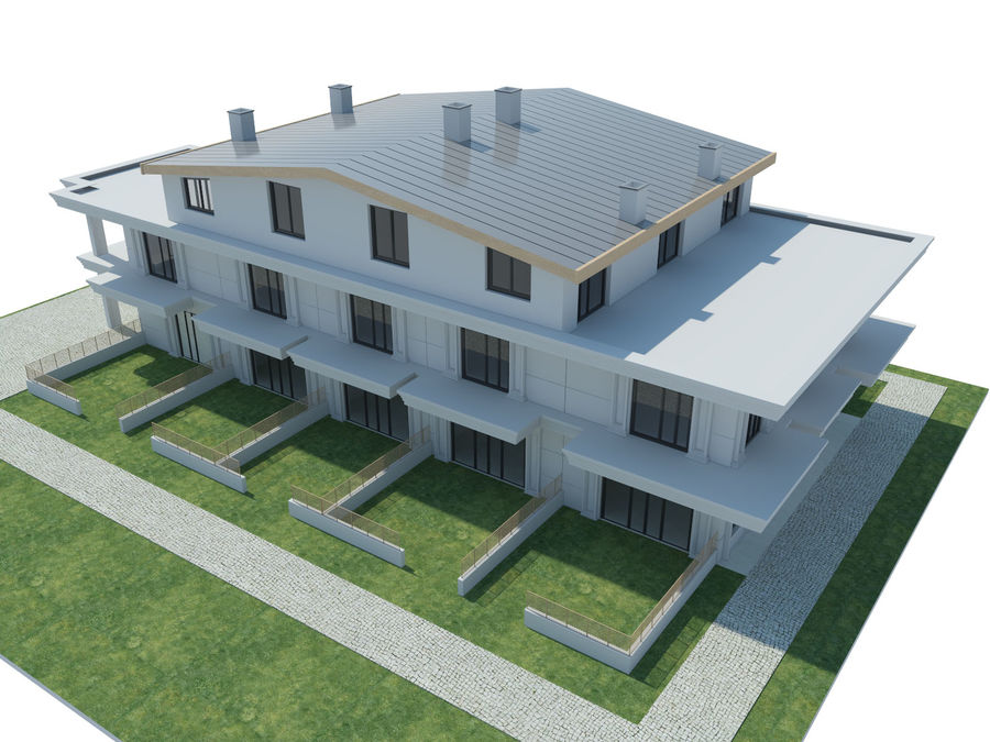 City Buildings royalty-free 3d model - Preview no. 27